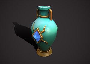 amphora vase flowerpot 3D model
