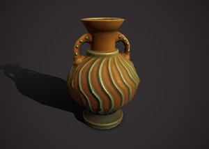 3D model amphora vase flowerpot
