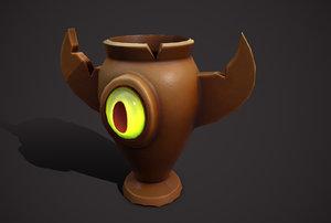 3D vase urn