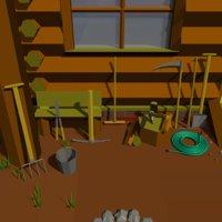 3D garden tool model