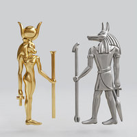 jewelry ancient egyptian anubis 3D