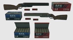 double barrel shotgun pbr 3D