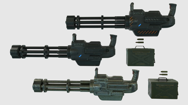 Minigun 3D Models for Download | TurboSquid