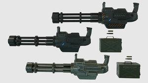 minigun pbr materials 3D model