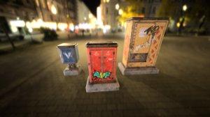 street sci-fi cyberpunk box model