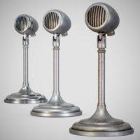 3D vintage american d5t microphone model