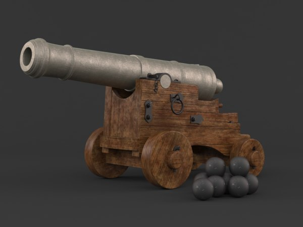 3D old cannon balls