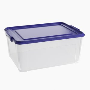 3D model realistic plastic container