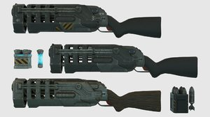 plasma rifle rpg launcher 3D