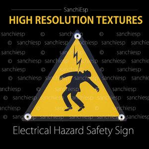 Electrical hazard safety sign