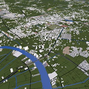 bangkok thailand buildings 3D model