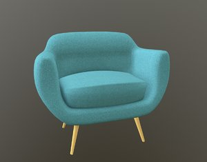 chair scandinavia armchair 3D model