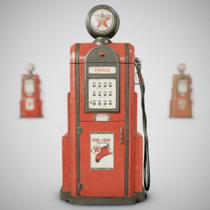 3D vintage texaco gas using model