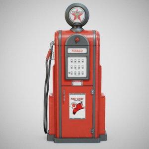 vintage texaco gas - 3D