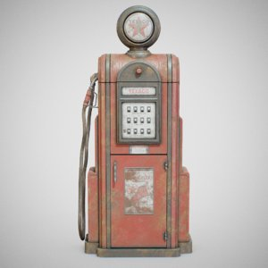 3D vintage texaco gas -