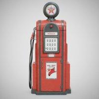 vintage texaco gas using 3D model