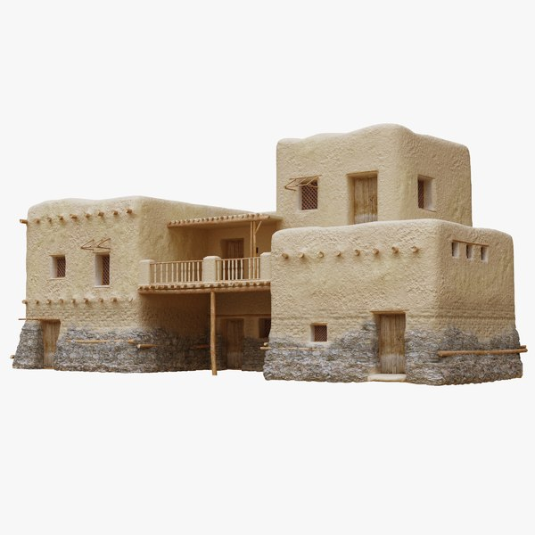 old arabic islamic house 3D model