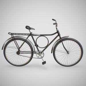 3D monark bicycle - black