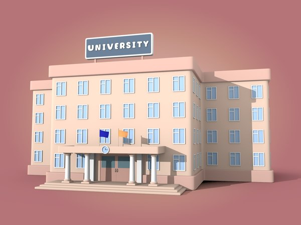 3D model cartoon university