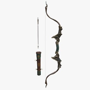 3D bow arrow quiver