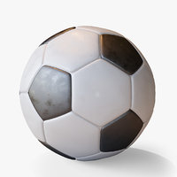 soccer ball 2 glossiness 3D model