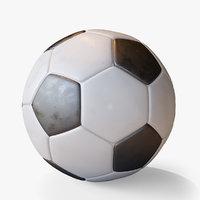 soccer ball 2 glossiness 3D model