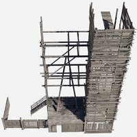 wodden scaffold
