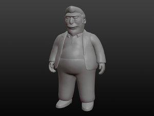 fat tony 3D model