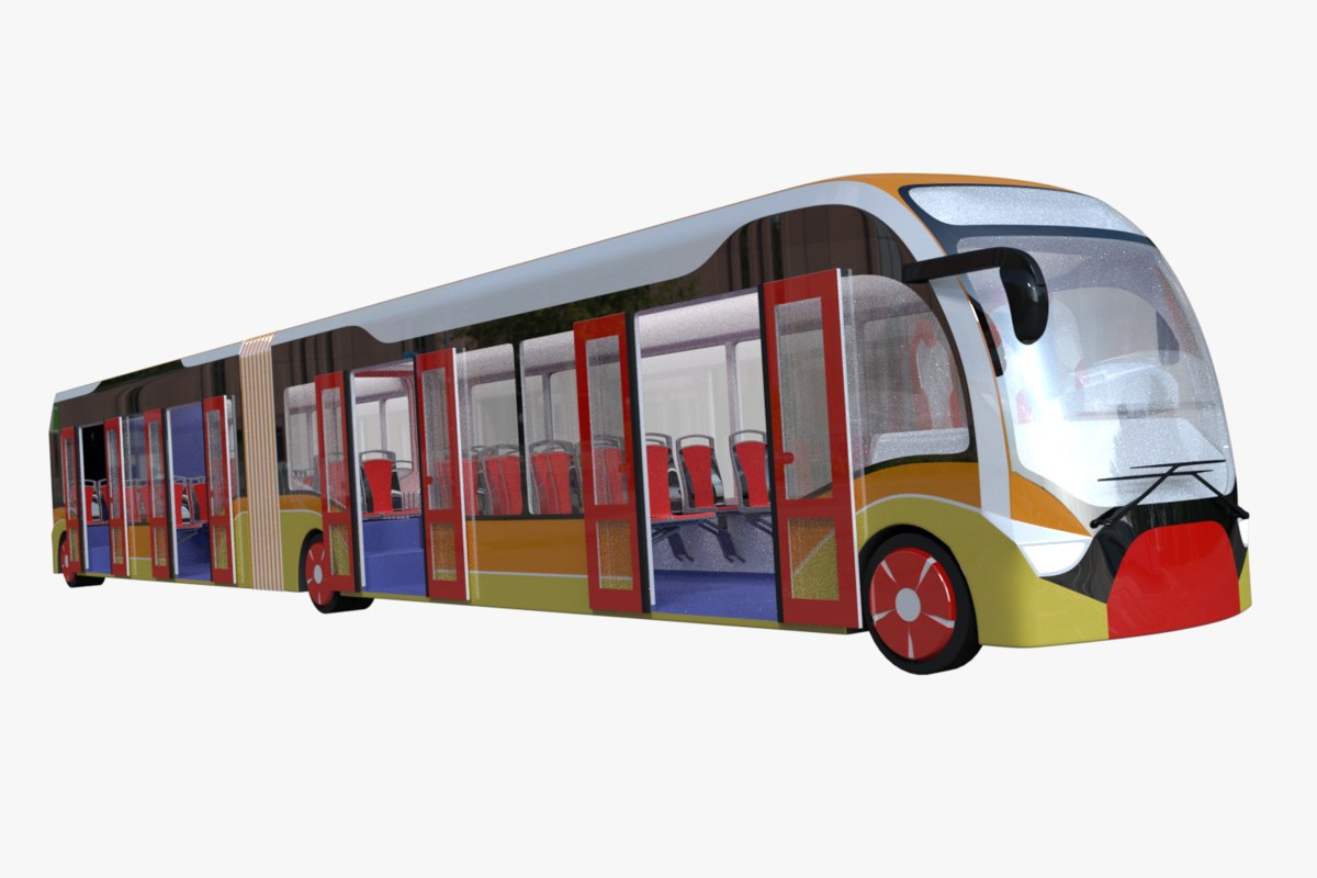 city articulated bus model