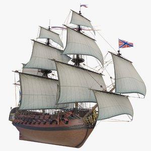 ingermanland ships 3D model