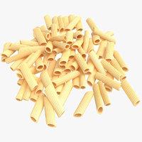 3D model real pasta pile
