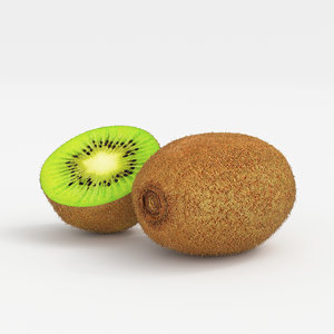 3D realistic kiwi fruit model