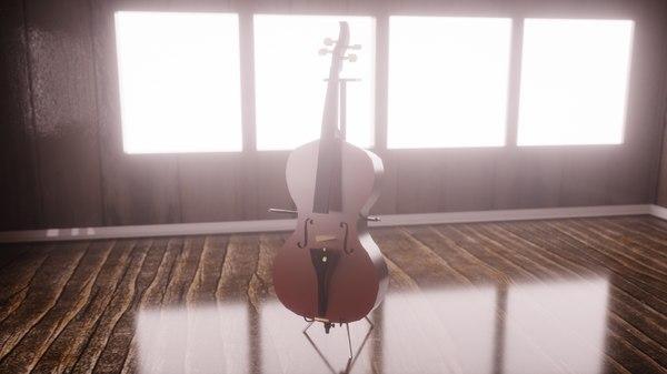 violoncelo 3D model