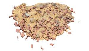 3D model brick pile 1 architectural