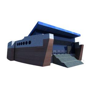 3D model hamad aquatic centre aspire