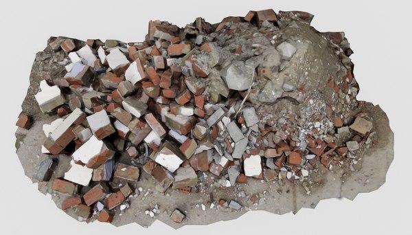 3D brick pile 5 rubble