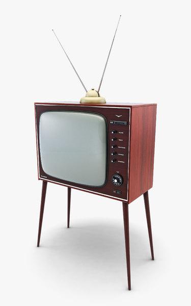 3D generic retro tv v model