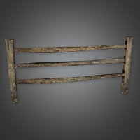 Wooden Fence 31 (GFS) - PBR Game Ready