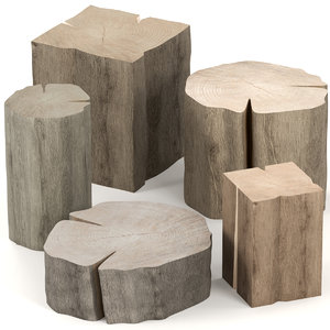 3D slab table stump