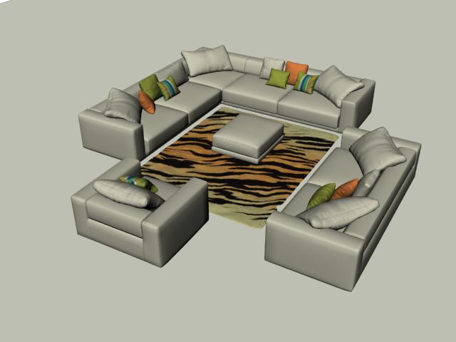 sofa carpet 3D model