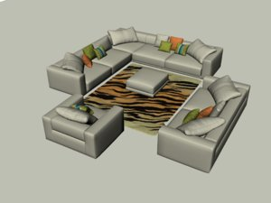 sofa carpet 3D model