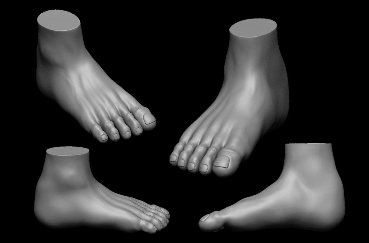 3D foot highpoly