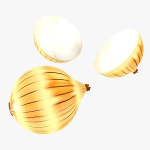 3D onion games fruit