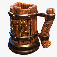 stylized beer mug 3D
