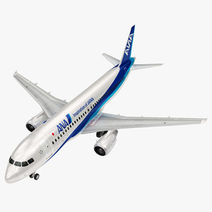 airbus nippon airline a320 3D model