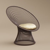 3D wicker peacock chair 1950s