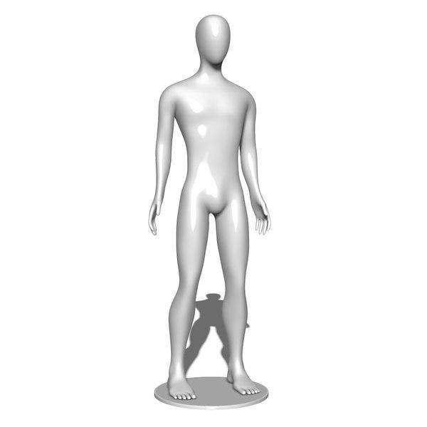 mannequin man male 3D