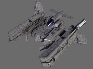 3D model space fighter hammer