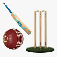 3D cricket ball model