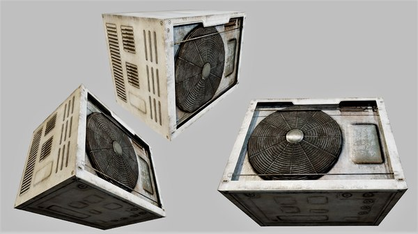 rusty air conditioner 02 3D model